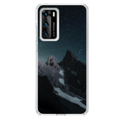 "Huawei P Smart 2021 Unique Silicone Case 1.0 mm ""u-case Airskin Mountains 1 design"""