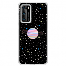 "Huawei P Smart 2021 Unique Silicone Case 1.0 mm ""u-case Airskin Planet design"""