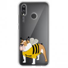 "Huawei P20 Lite silicone phone case with unique design 1.0 mm ""u-case Airskin Doggo 1 design"""