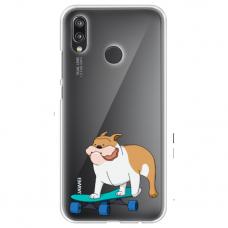 "Huawei P20 Lite silicone phone case with unique design 1.0 mm ""u-case Airskin Doggo 2 design"""