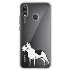 "Huawei P20 Lite silicone phone case with unique design 1.0 mm ""u-case Airskin Doggo 3 design"""