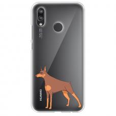 "Huawei P20 Lite silicone phone case with unique design 1.0 mm ""u-case Airskin Doggo 6 design"""