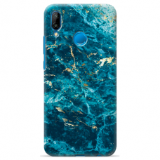 "Huawei P20 Lite silicone phone case with unique design 1.0 mm ""u-case Airskin Marble 2 design"""