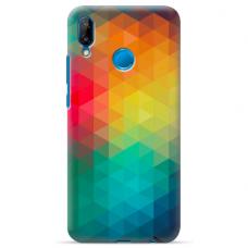 "Huawei P20 Lite silicone phone case with unique design 1.0 mm ""u-case Airskin Pattern 3 design"""