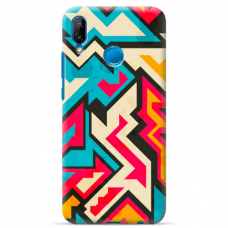 "Huawei P20 Lite silicone phone case with unique design 1.0 mm ""u-case Airskin Pattern 7 design"""