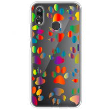 "Huawei P20 lite silicone phone case with unique design 1.0 mm ""u-case Airskin PAW design"""