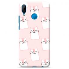 "Huawei P20 Lite silicone phone case with unique design 1.0 mm ""u-case Airskin Pink Kato design"""