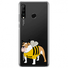 "Huawei P30 Lite silikona tālruņa vāciņš ar unikālu dizainu 1,0 mm ""u-case Airskin Doggo 1 design"""