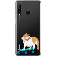 "Huawei P30 Lite silikona tālruņa vāciņš ar unikālu dizainu 1,0 mm ""u-case Airskin Doggo 2 design"""