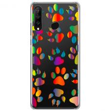 "Huawei P30 lite silikona tālruņa vāciņš ar unikālu dizainu 1,0 mm ""u-case Airskin PAW design"""