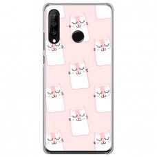 "Huawei P30 Lite silikona tālruņa vāciņš ar unikālu dizainu 1,0 mm ""u-case Airskin Pink Kato design"""