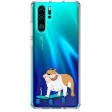 "Huawei P30 pro silicone phone case with unique design 1.0 mm ""u-case Airskin Doggo 2 design"""