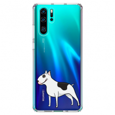 "Huawei P30 pro silicone phone case with unique design 1.0 mm ""u-case Airskin Doggo 3 design"""
