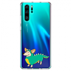 "Huawei P30 pro silicone phone case with unique design 1.0 mm ""u-case Airskin Doggo 4 design"""