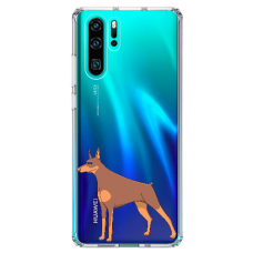 "Huawei P30 pro silicone phone case with unique design 1.0 mm ""u-case Airskin Doggo 6 design"""