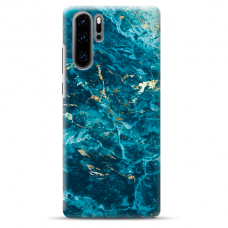 "Huawei P30 pro silicone phone case with unique design 1.0 mm ""u-case Airskin Marble 2 design"""