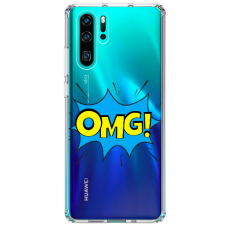 "Huawei P30 pro silicone phone case with unique design 1.0 mm ""u-case Airskin OMG design"""