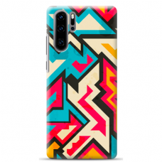 "Huawei P30 pro silicone phone case with unique design 1.0 mm ""u-case Airskin Pattern 7 design"""