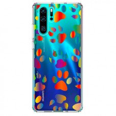 "Huawei P30 pro silicone phone case with unique design 1.0 mm ""u-case Airskin PAW design"""