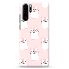 "Huawei P30 pro silicone phone case with unique design 1.0 mm ""u-case Airskin Pink Kato design"""