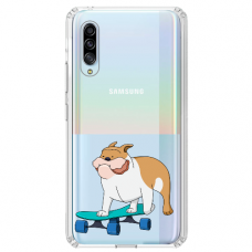 "Huawei P30 silicone phone case with unique design 1.0 mm ""u-case Airskin Doggo 2 design"""