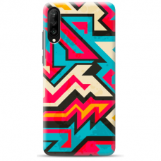 "Huawei P30 silicone phone case with unique design 1.0 mm ""u-case Airskin Pattern 7 design"""