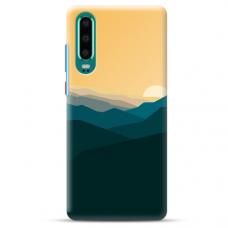"Huawei P30 Unique Silicone Case 1.0 mm ""u-case Airskin Mountains 2 design"""