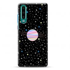 "Huawei P30 Unique Silicone Case 1.0 mm ""u-case Airskin Planet design"""