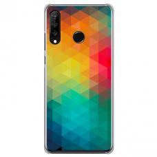 """Huawei P40 Lite E Unique Silicone Case 1.0 mm 1.0 mm """"u-case airskin Pattern 3 design"""""""
