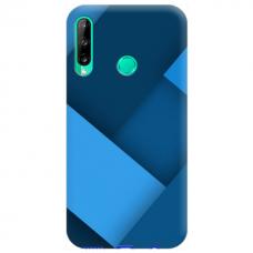 """Huawei P40 Lite E Unique Silicone Case 1.0 mm """"u-case Airskin blue design"""""""