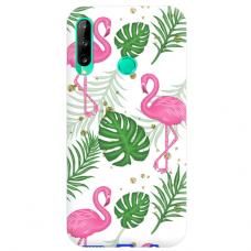 "Huawei P40 Lite E Unique Silicone Case 1.0 mm ""u-case airskin Flamingos design"""