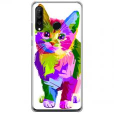 "Huawei P40 Lite E Unique Silicone Case 1.0 mm ""u-case Airskin Kitty design"""