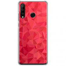 """Huawei P40 Lite E Unique Silicone Case 1.0 mm """"u-case Airskin Pattern 6 design"""""""