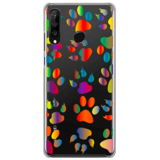 "Huawei P40 Lite E Unique Silicone Case 1.0 mm ""u-case Airskin PAW design"""