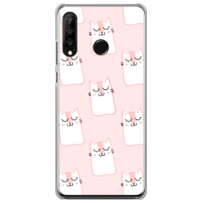 """Huawei P40 Lite E Unique Silicone Case 1.0 mm """"u-case Airskin Pink Kato design"""""""