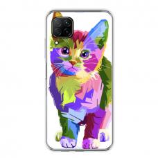 "Huawei P40 Lite Unique Silicone Case 1.0 mm ""u-case Airskin Kitty design"""
