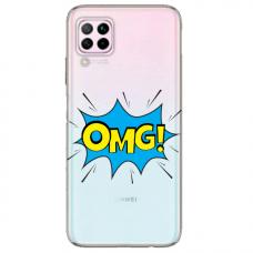 """Huawei P40 Lite Unique Silicone Case 1.0 mm """"u-case Airskin OMG design"""""""