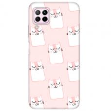 "Huawei P40 Lite Unique Silicone Case 1.0 mm ""u-case Airskin Pink Kato design"""