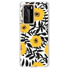 "Huawei P40 Pro Unique Silicone Case 1.0 mm 1.0 mm ""u-case airskin Flowers 2 design"""