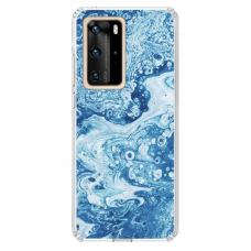 "Huawei P40 Pro Unique Silicone Case 1.0 mm 1.0 mm ""u-case airskin Marble 3 design"""