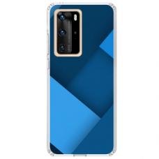 """Huawei P40 Pro Unique Silicone Case 1.0 mm """"u-case Airskin Blue design"""""""