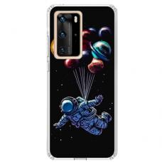 "Huawei P40 Pro Unique Silicone Case 1.0 mm ""u-case Airskin Cosmo design"""