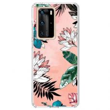"Huawei P40 Pro Unique Silicone Case 1.0 mm ""u-case Airskin Flowers 1 design"""