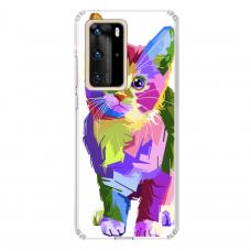 "Huawei P40 Pro Unique Silicone Case 1.0 mm ""u-case Airskin Kitty design"""