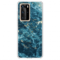 "Huawei P40 Pro Unique Silicone Case 1.0 mm ""u-case Airskin Marble 2 design"""