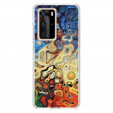 """Huawei P40 Pro Unique Silicone Case 1.0 mm """"u-case Airskin Pattern 1 design"""""""