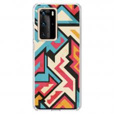 """Huawei P40 Pro Unique Silicone Case 1.0 mm """"u-case Airskin Pattern 7 design"""""""