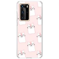 "Huawei P40 Pro Unique Silicone Case 1.0 mm ""u-case Airskin Pink Kato design"""