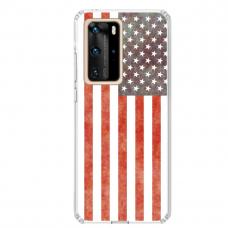 "Huawei P40 Pro Unique Silicone Case 1.0 mm ""u-case Airskin USA design"""