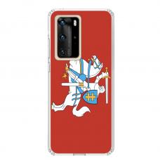 "Huawei P40 Pro Unique Silicone Case 1.0 mm ""u-case airskin Vytis design"""